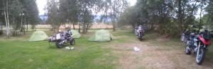 Das Camp am ersten Tag der Tour