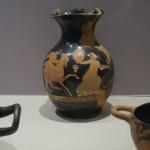 Vase mit antikem Comic
